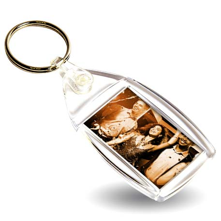 BF1 Rectangular Blank Plastic Photo Insert Keyring - 35 x 24mm Thumbnail