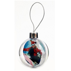 CB01 Blank 80mm, 3 inch Clear Bauble