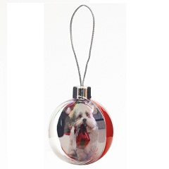 CB01 Blank 80mm, 3 inch Red Bauble