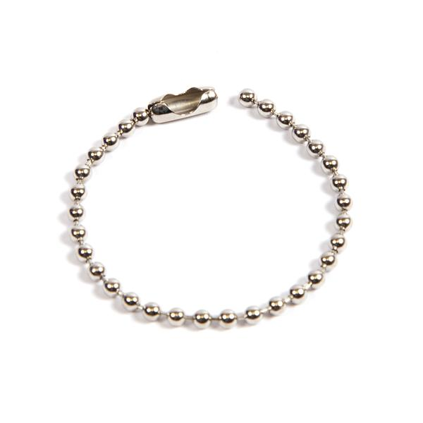 100mm (4 inch) Round 2.4mm Ball Chain with Connector (CB2.4-100)