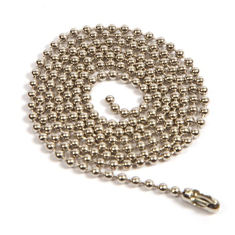 760mm (30 inch) Round 2.4mm Ball Chain with Connector (CB2.4-760)