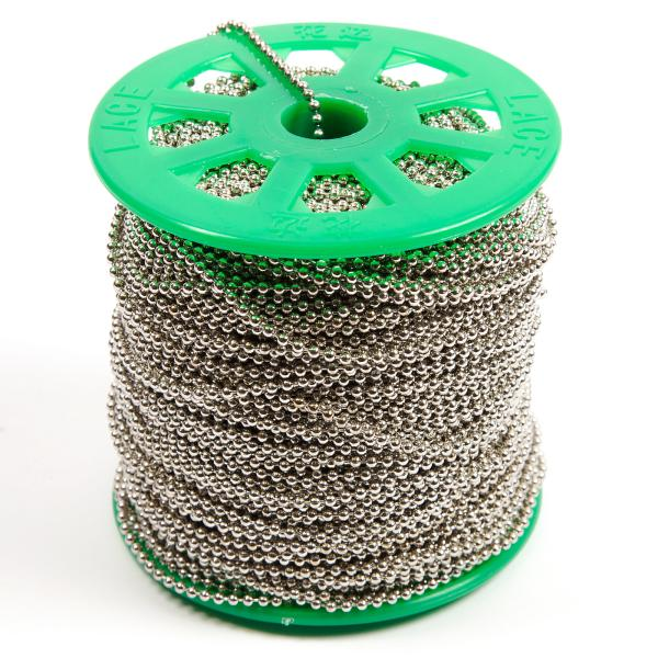 100 Metre Spool Round 2.4mm Ball Chain (CB2.4-SPOOL)