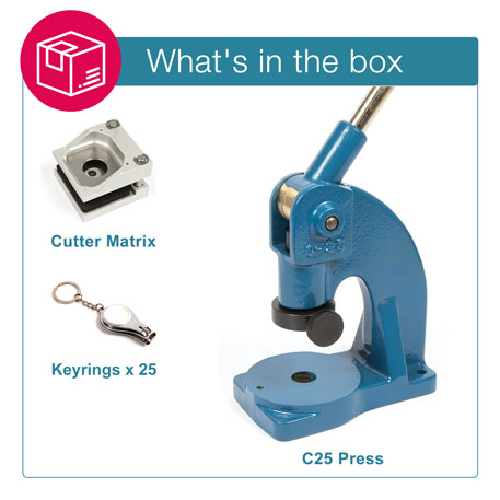 MULTI3-WHITE STARTER PACK. Includes Machine, Cutter, Assembly Tool and 25 FREE Keyrings