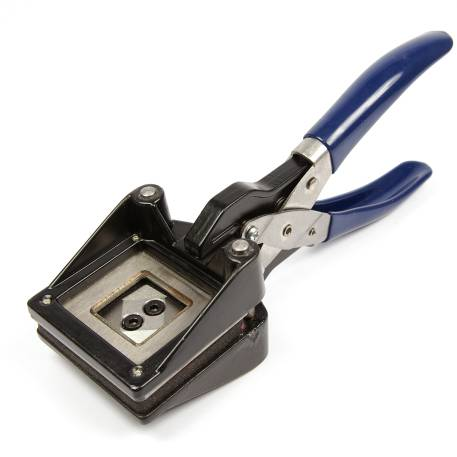 25mm Square Hand Held Photo ID Cutter Punch (CUT25S)