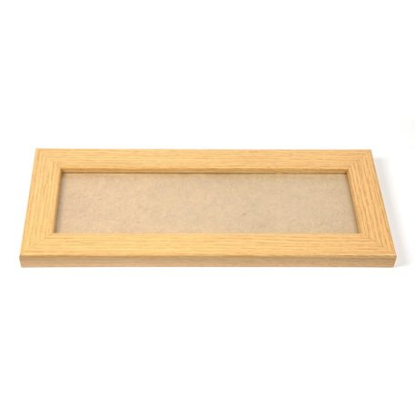 Blank 250mm x 80mm Door Plaque - Oak