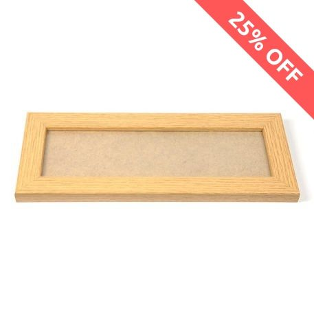 Blank 250mm x 80mm Door Plaque - Oak Thumbnail