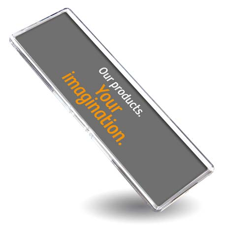 FW02 Panoramic Blank Plastic Photo Insert Fridge Magnet - 141 x 45mm