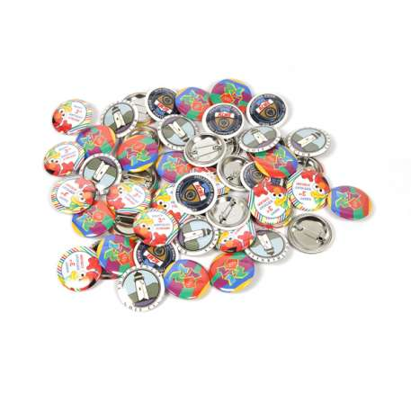 31mm Round G Series Button Pin Badge Machine - Incl 300 Pin Back Components FREE of Charge Thumbnail