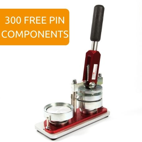 75mm Round G Series Button Pin Badge Machine - Incl 300 Pin Back Components FREE of Charge