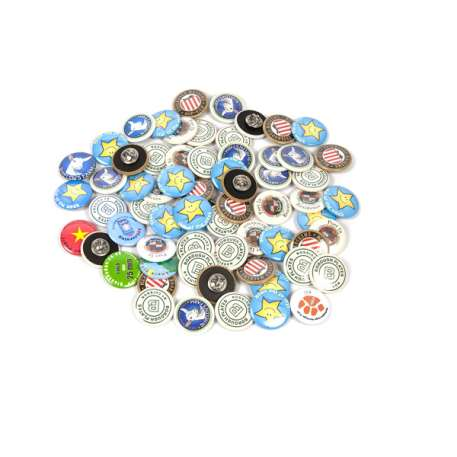 25mm Round G Series Clutch Butterfly Button Badge Components (G25BFLY) Thumbnail