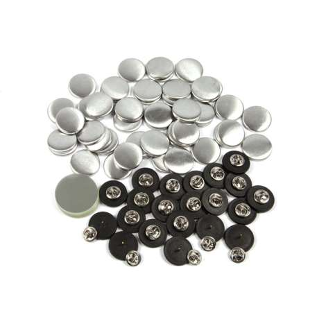 25mm Round G Series Clutch Butterfly Button Badge Components (G25BFLY)