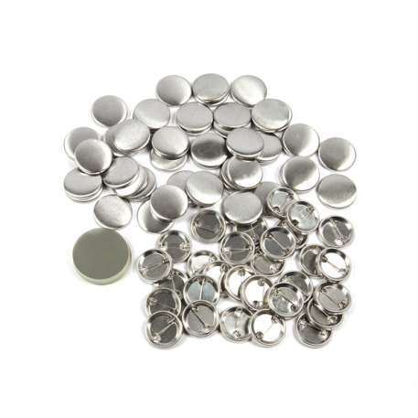 25mm Round G Series Metal Pin Back Button Badge Components (G25PIN-METAL)