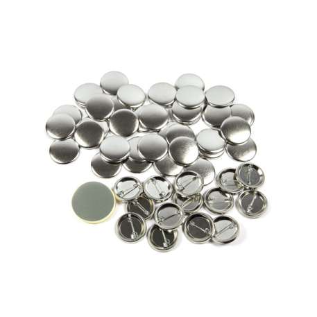 31mm Round G Series Metal Pin Back Button Badge Components (G31PIN-METAL)
