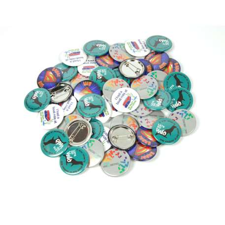 38mm Round G Series Metal Pin Back Button Badge Components (G38PIN-METAL)