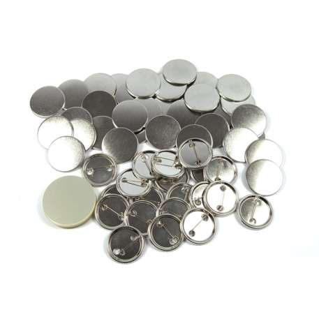 38mm Round G Series Metal Pin Back Button Badge Components (G38PIN-METAL) Thumbnail