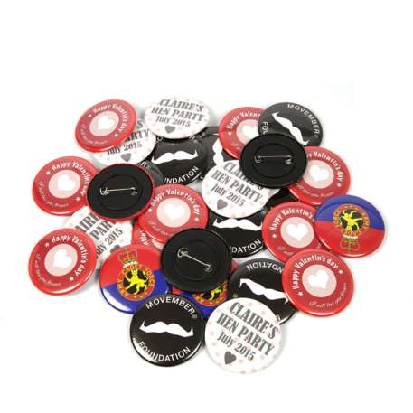 50mm Round G Series Plastic Pin Back Button Badge Components (G50PIN-PLASTIC) Thumbnail