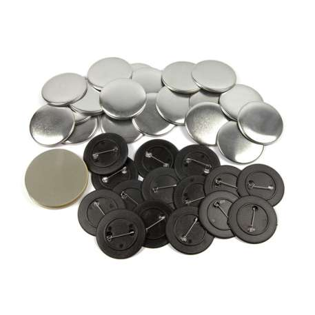 50mm Round G Series Plastic Pin Back Button Badge Components (G50PIN-PLASTIC)