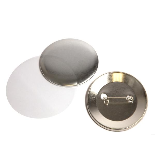 59mm Round G Series Metal Pin Back Button Badge Components (G59PIN-METAL) Thumbnail