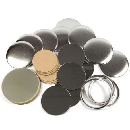 75mm Round G Series Pocket Mirror Button Badge Components (G75MIR)