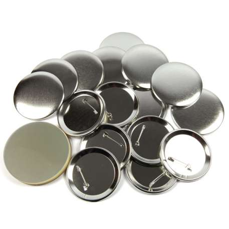 75mm Round G Series Metal Pin Back Button Badge Components (G75PIN-METAL)