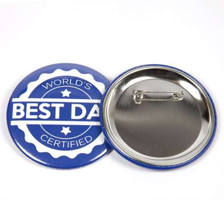 75mm Round G Series Metal Pin Back Button Badge Components (G75PIN-METAL) Thumbnail