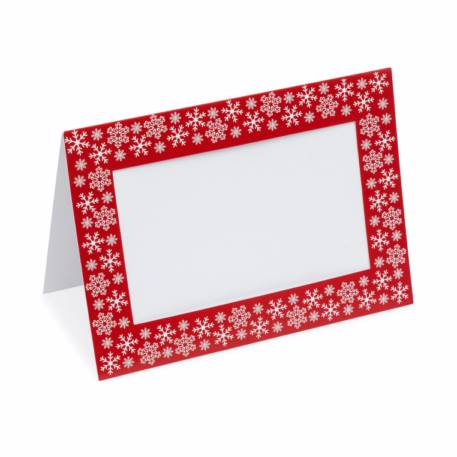 Pack of 6 Blank Red Photo Insert Christmas Greeting Cards 152 x 102mm (6 x 4 inch photo)  Thumbnail