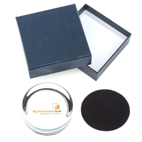 Small 70mm Diameter Glass Paperweight Kit - Insert Size 55mm