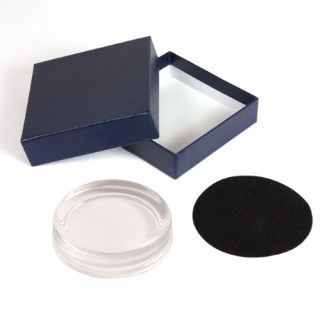 GP2 Blank 90mm Diameter Glass Paperweight, Base & Box