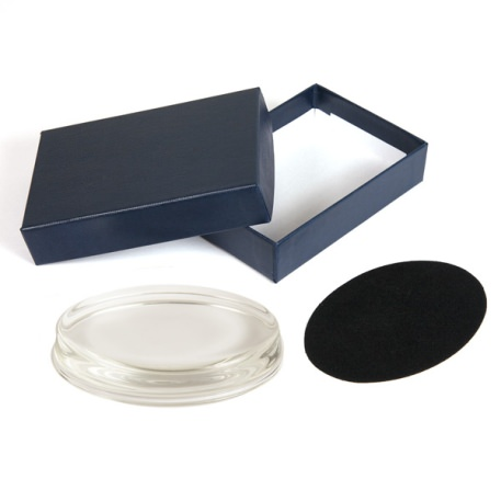 Oval 100mm x 70mm Glass Paperweight Kit - Insert Size 93 x 60mm