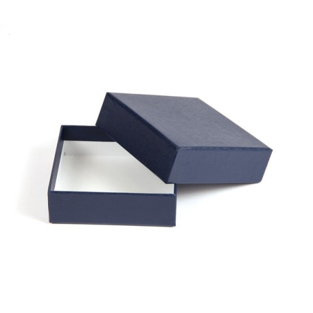 76 x 76 x 27mm Quality Gift Box - Textured Blue