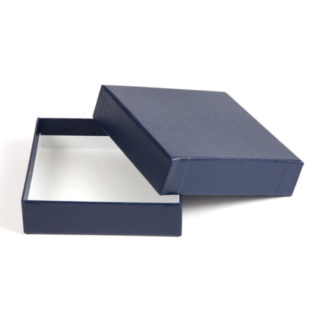 93 x 93 x 27mm Quality Gift Box - Textured Blue Thumbnail
