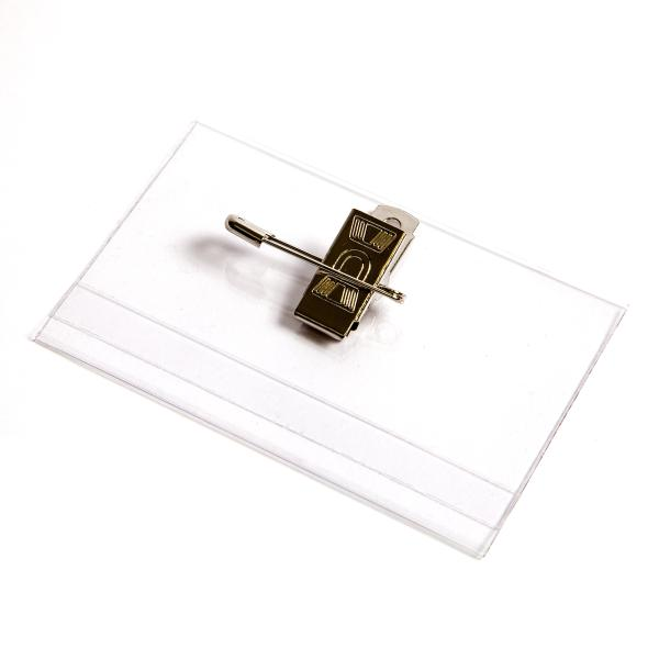 HC3C 58mm x 89mm Card Holder With Clip & Pin