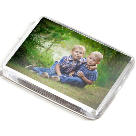 C1 Rectangular Blank Plastic Photo Insert Fridge Magnet - 50 x 35mm