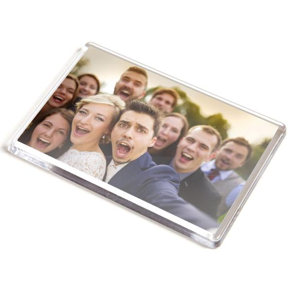 Jumbo Rectangular Blank Plastic Photo Insert Fridge Magnet - 90 x 60mm