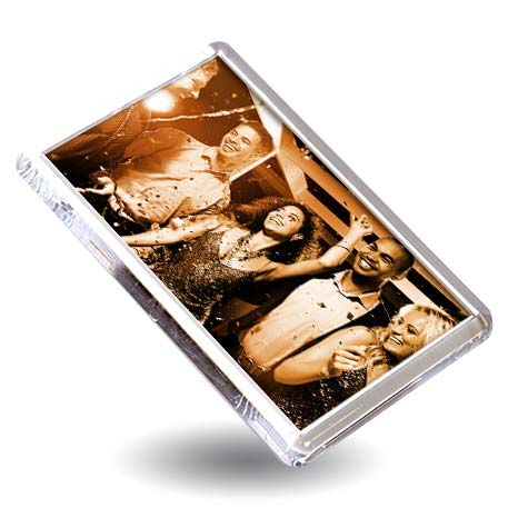 L4 Rectangular Blank Plastic Photo Insert Fridge Magnet - 70 x 45mm