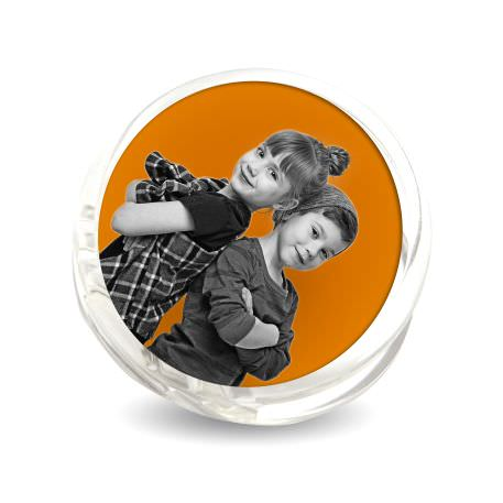 51mm Round Blank Plastic Photo Insert Fridge Magnet Clip - MAG-PZ