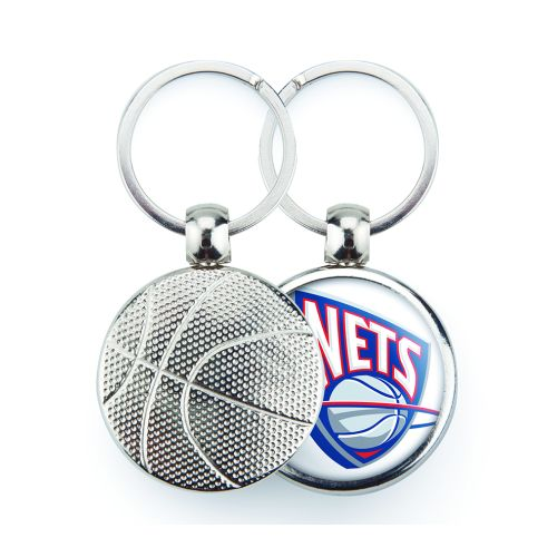 MBK Basketball Round Blank Metal Photo Insert Keyring - 30mm