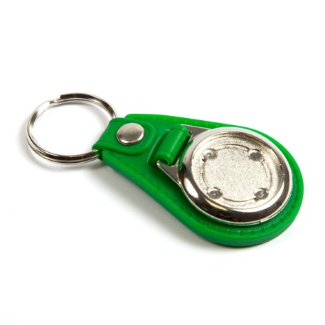 MD25 Round Blank Medallion PU Leather Photo Insert Keyring in Mixed Colours - 25mm Thumbnail