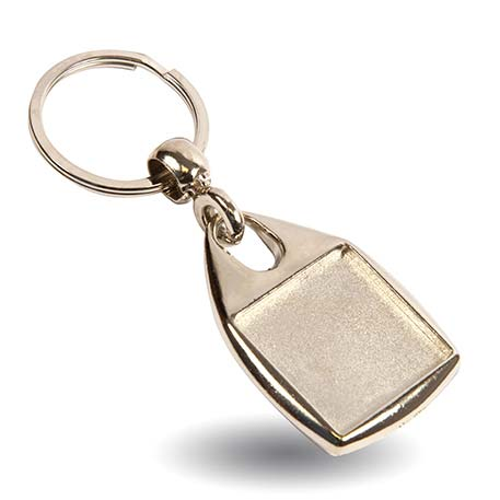 MF-25D Square Blank Metal Photo Insert Keyring - 25mm Thumbnail