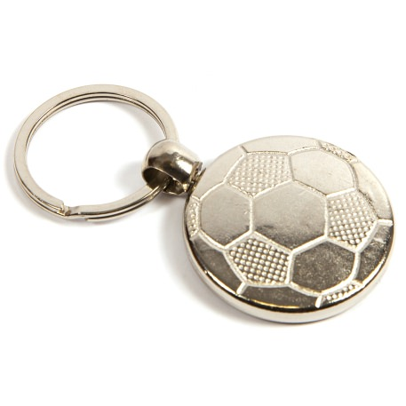MFT Football Round Blank Metal Photo Insert Keyring - 30mm Thumbnail