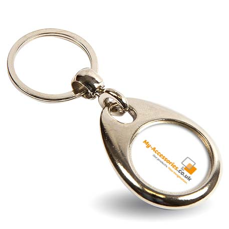 MH-25D Round Blank Metal Photo Insert Keyring - 25mm