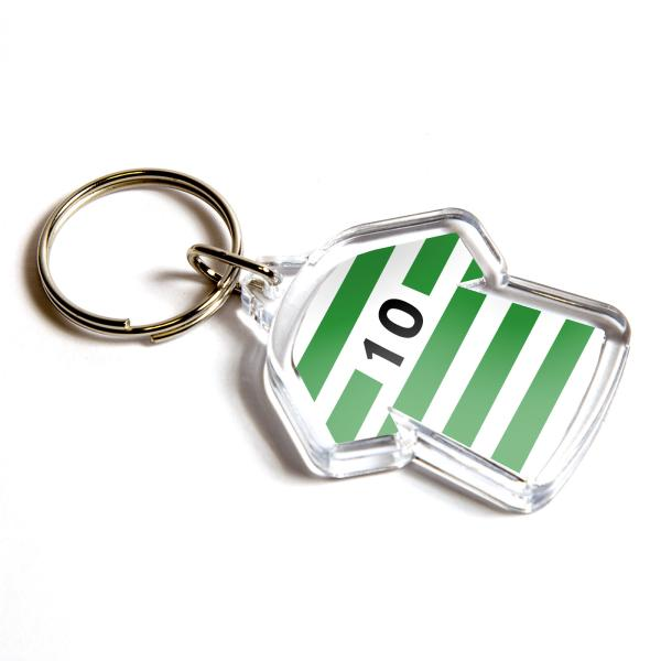 Mini Shirt Shaped Blank Plastic Photo Insert Keyring - 35 x 34mm