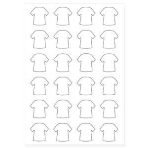 35mm x 34mm Mini Shirt Keyring Pre-Cut Paper Inserts (MINI-SHIRT-PAPER)