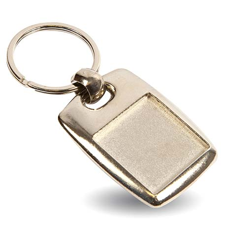 MK-25D Square Blank Metal Photo Insert Keyring - 25mm Thumbnail