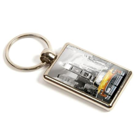 ML-40D Rectangular Blank Metal Photo Insert Keyring - 40 x 25mm