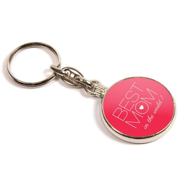MO-33D Round Blank Metal Photo Insert Keyring - 33mm