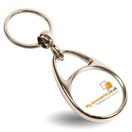 MS-30D Round Blank Metal Photo Insert Keyring - 30mm Thumbnail