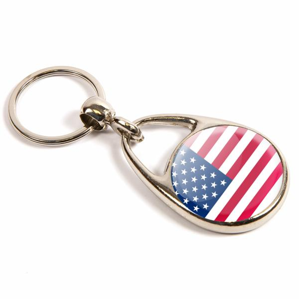 MS-30D Round Blank Metal Photo Insert Keyring - 30mm