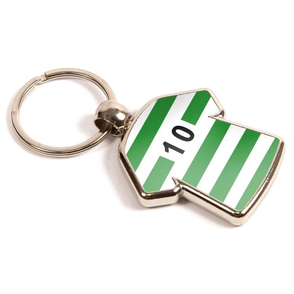 MX-D Shirt Shaped Blank Metal Photo Insert Keyring - 35 x 34mm
