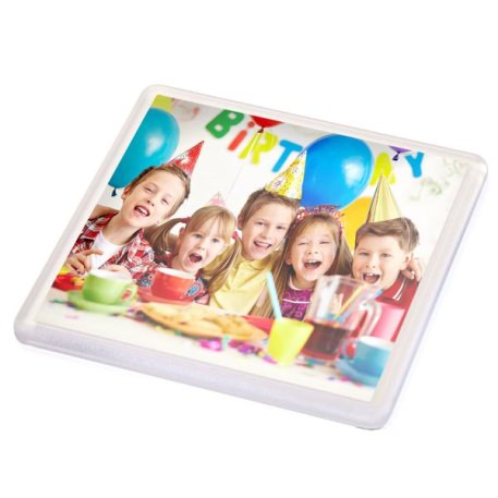 N1 Square Blank Plastic Photo Insert Coaster - 90 x 90mm